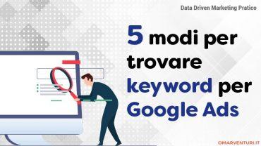 5 modi per trovare le keyword per Google Ads.