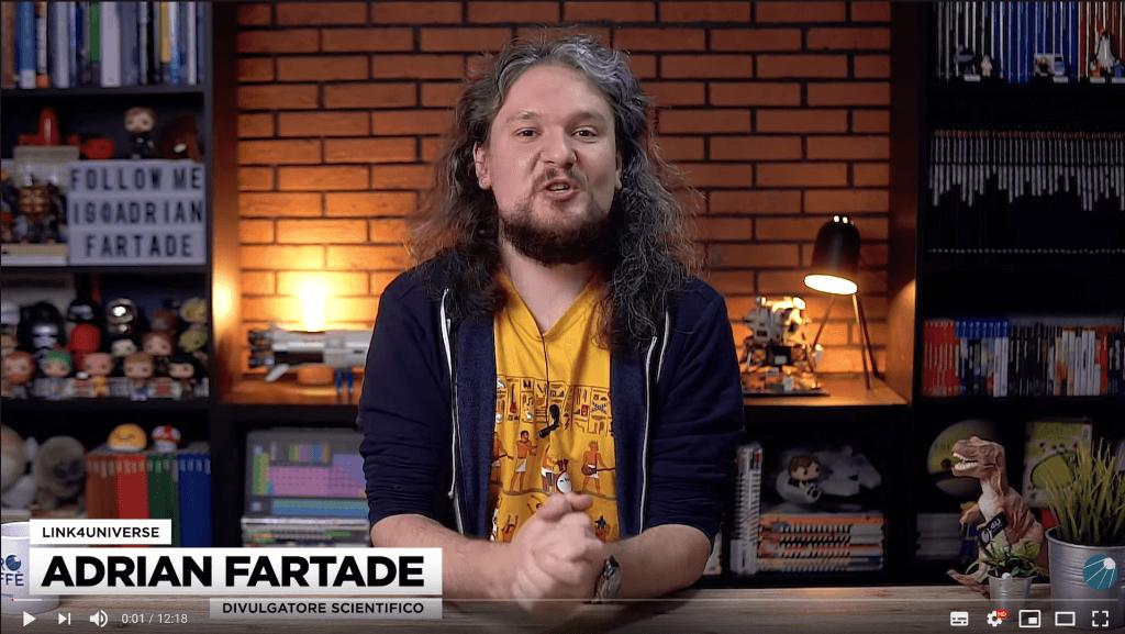 Adrian Fartade in uno dei video del suo canale link4universe