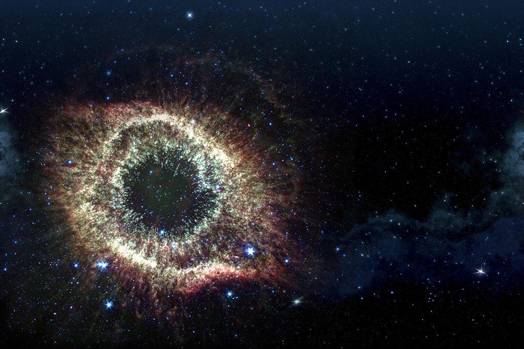 Una nebulosa nello spazio