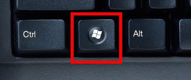 Il tasto Windows sulla tastiera