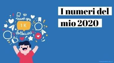 I numeri del mio 2020